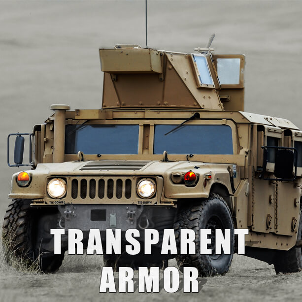 Transparent armor, military vehicle, ballistic
