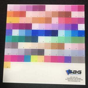 Printed laminate in Glass Color Palette