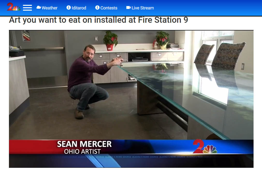 Sean Mercer Table Fire Station 9